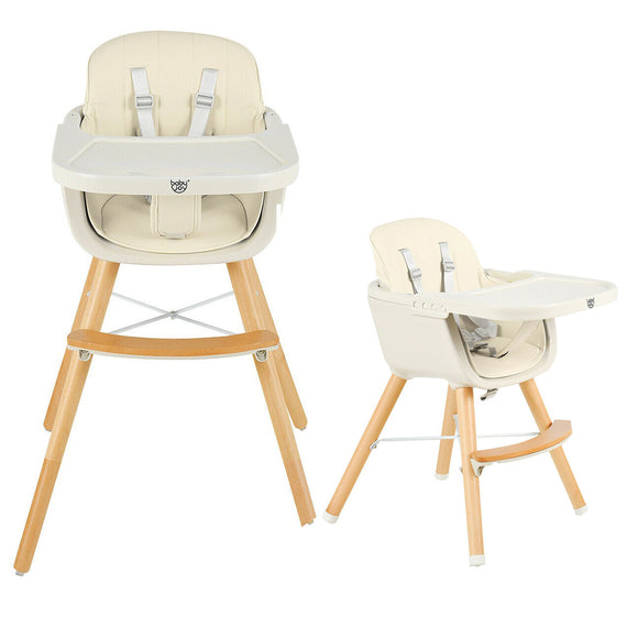 Superb and quality multi functional high chair, low chair with 5 point harness and removable adjustble tray