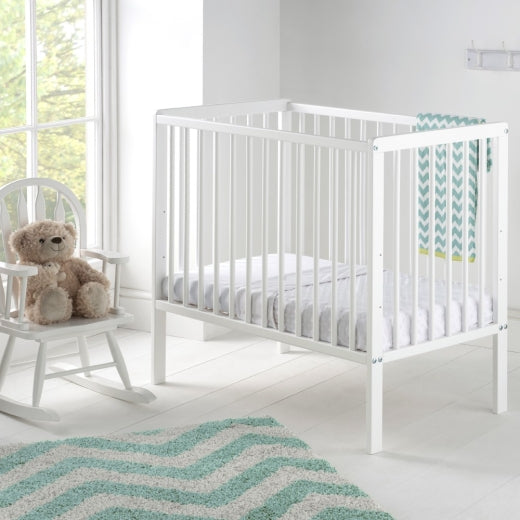 This White Kozie Cot is perfect if you're just wanting a small cot to save space, which is also sturdy and safe.