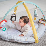 With detachable music & lights toy featuring play time melodies, activated by baby's pull, to teach about cause & effect