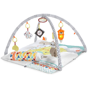 Delight all five of your baby's senses with the otter-ly engaging 'Countryside Clouds ' themed Deluxe Baby Gym