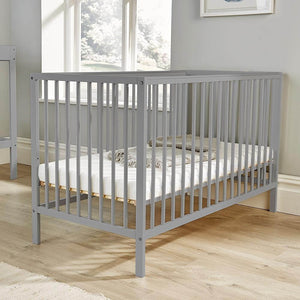 Part of our Pebbles Nursery Collection, this Cot in warm grey is the perfect way to send your baby off to dreamland.