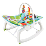 This super cute and colourful baby rocker from Fisher Price comes with sound, toy bar and 3pt harness
