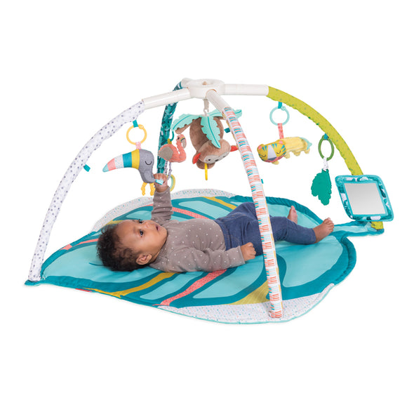 Restful Rainforest Portable Newborn Super Soft Portable Baby Play Mat | Baby Gym