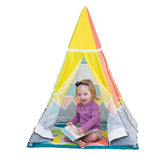 For toddlers, unfold the gym's sides to create a fun, playtime teepee.