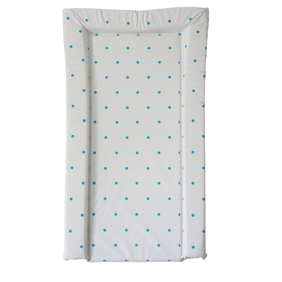 This essential polka dot blue print baby changing mat is a nice and simple mat to suit any nursery