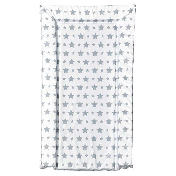 This essential light grey stars baby changing mat is a nice and neutral mat to suit any nursery.