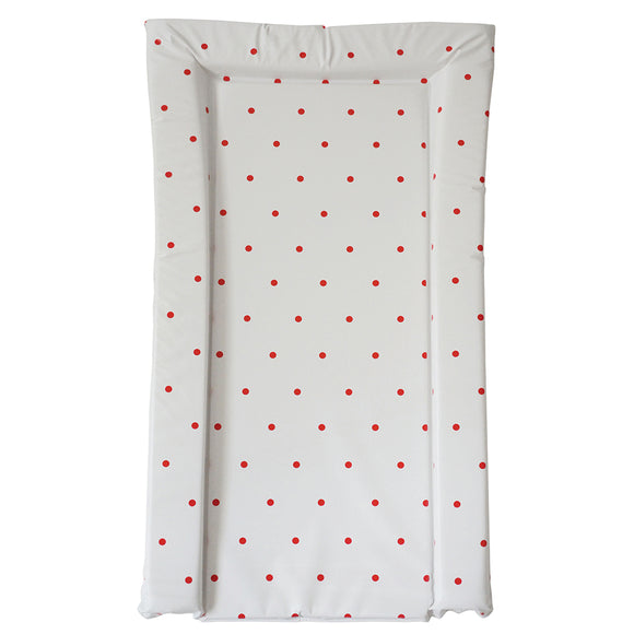 This essential polka dot red print baby changing mat is a nice and simple mat to suit any nursery decor