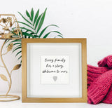 Family Wall Art | Family Prints | Family Canvas - Every Family Has a Story, Welcome to ours