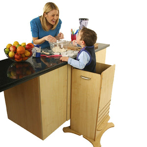 Little Helper FunPod learning tower in natural. Parent and child bonding in your tot's own fun pod kitchen tower.