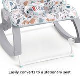 A lovely multi use baby rocker and with a stationary seat position and kick stand, it is also ideal for feeding