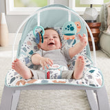 Removable toy bar & 2 interactive animal toys featured on this deluxe Grow-with-Me Fisher Price Baby Rocker