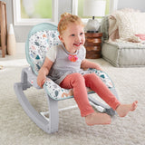 When baby becomes toddler and then small child, you can remove the toy bar and convert the seat to a rocking chair
