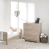 This wooden changing table & chest of drawers is part of a neat and contemporary nursery furniture set that will last years.