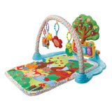 Discover new ways to play with the eye-catching and engaging 'Forest Friendlies' baby play mat.