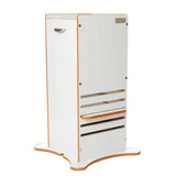 Little Helper FunPod learning tower in white. The original kitchen helper keeping tots safe in the kitchen since 2006.