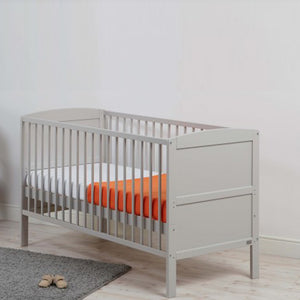 This gorgeous looking cot bed has 3 changeable base heights, giving you peace of mind of your child's safety.