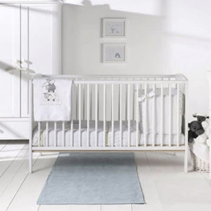 This gorgeous cot bed has 3 base heights, allowing you to change the height of the mattress base!