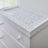 Suitable for most dressers the woodland print baby change mat makes nappy changing time quick & easy.