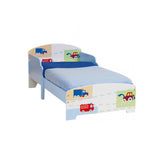 This classically designed 'Trucks'n'Tractors' toddler bed is a fantastic addition to any boys bedroom.