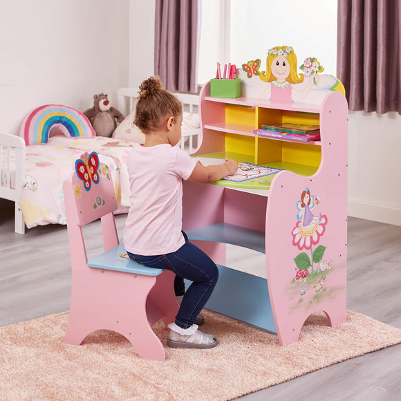 This little fairy desk and chair is perfect for any little princess looking to indulge in a fairytale of her own.