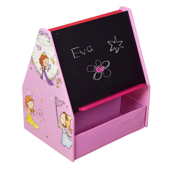 At a toddler-friendly height of 60cm, this pink princess bookcase, easel and storage is ideal for every little princess.