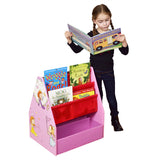Wooden Kids 3-in-1 Bookcase | Book Shelf | Toy Storage | Blackboard Easel