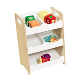 This wooden storage unit with matching table, art station and dress up station is ideal for any tot's bedroom or playroom