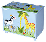 Super cute wooden african safari themed chest of drawers and side table