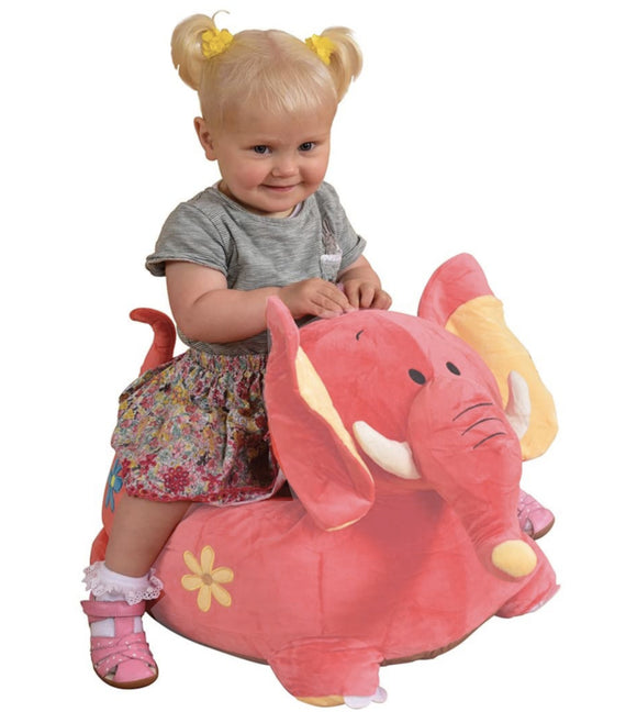 This large and super soft elephant  is a diddy sofa cum cushioned chair, perfect for toddlers aged 12m+