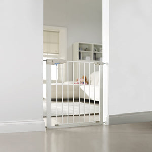 Award-winning Lindam White Sure Shut Pressure Fit Stair Gate | Baby Gate | Extendable Safety Gate (73-80cm)