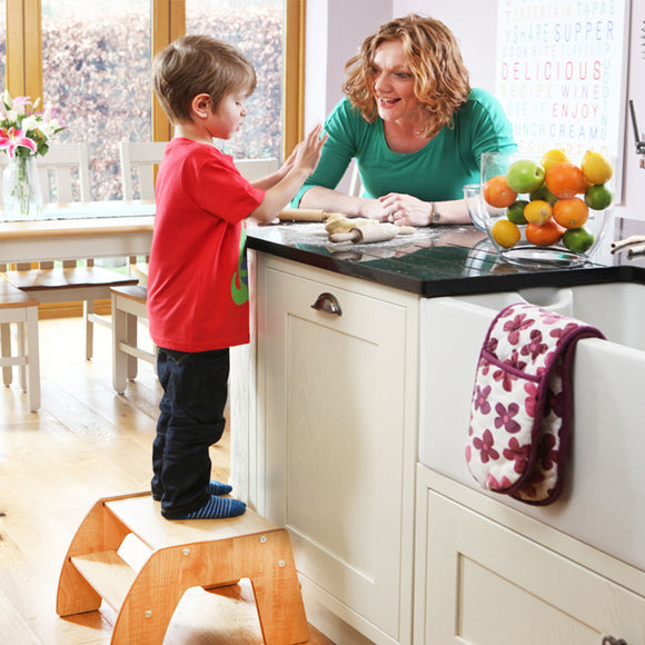 For lovers of the Little Helper FunPod, this Natural FunStep Toddler Step Stool is the grown up version for toddlers aged 3+