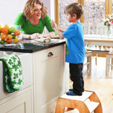 For lovers of the Little Helper FunPod Learning Tower, the Maple/White Fun Step Stool is a grown up version for 36m+