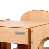 Little Helper FunStation kids table & chairs set in Natural wooden finish with high quality finish and fixings.