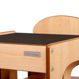 Little Helper FunStation kids table & chairs set with chalk desk surface and high quality finish and fixings.