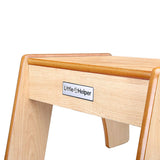The natural Little Helper wooden step stool allows toddlers aged 3 and upwards up to sinks, toilets and kitchen worktops