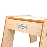 The natural and white Little Helper wooden step stool allows toddlers aged 3 years+ up to sinks, toilets and kitchen worktops