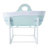 Moses Basket With Waterproof Mattress | Mint Green