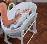 Moses Basket & Stand With Waterproof Mattress | Mint Green