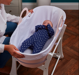 Has over 300 air holes along the side and base allowing maximum airflow to help regulate baby's temperature and allow breathability.