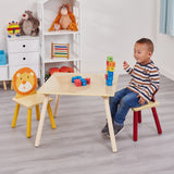Sturdy & colourful table & 2 chairs set. Ideal for any home, bedroom, playroom, nursery, playgroup or school.