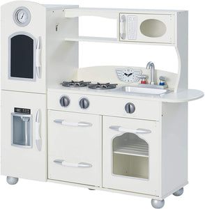Play house with our toy kitchen complete with oven, microwave, washing machine and sink and more realistic features