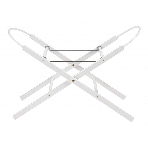 Buttercup Wooden Moses Basket Stand | Pearl White