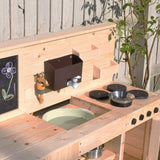 Our mud kitchen is suitable from 18 months and is big enough for 3 kids to work at