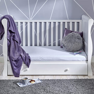 The side panels are easily removable, allowing you to either convert the bed into a daybed/sofa or a toddler bed.