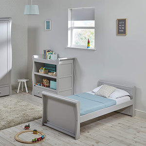 Wooden Grey Sleigh Shaped Nebraska Toddlers Bed