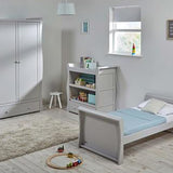 This Nebraska Grey Wooden Cot Bed Nursery Set includes a Grey Nebraska Cot Bed, a Grey Nebraska Wardrobe and a Grey Nebraska Dresser.