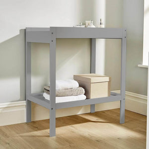 2 Tier Open Baby Changing Unit for Baby's Nursery from the Pebbles Collection in warm grey