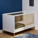 The Melody cot bed was designed so that the fittings don't show on the ends, for a clean, contemporary look.