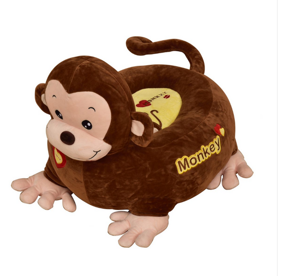 This large soft monkey cushion and seat is made from a super soft but hardwearing fabric which keeps its pile