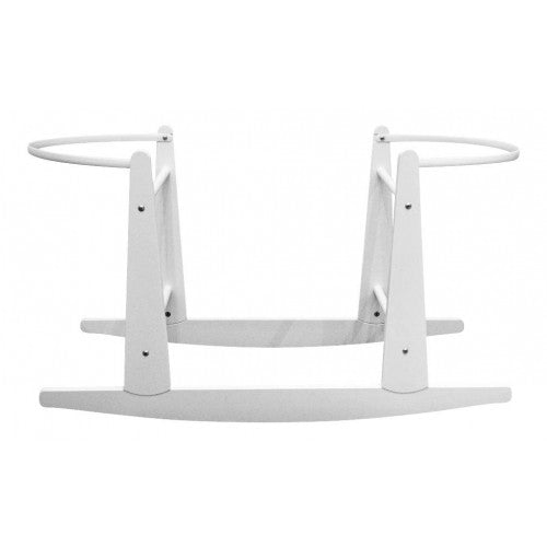 This gorgeous White wooden Rocking Moses basket Stand allows you to gently rock your newborn in their moses basket.